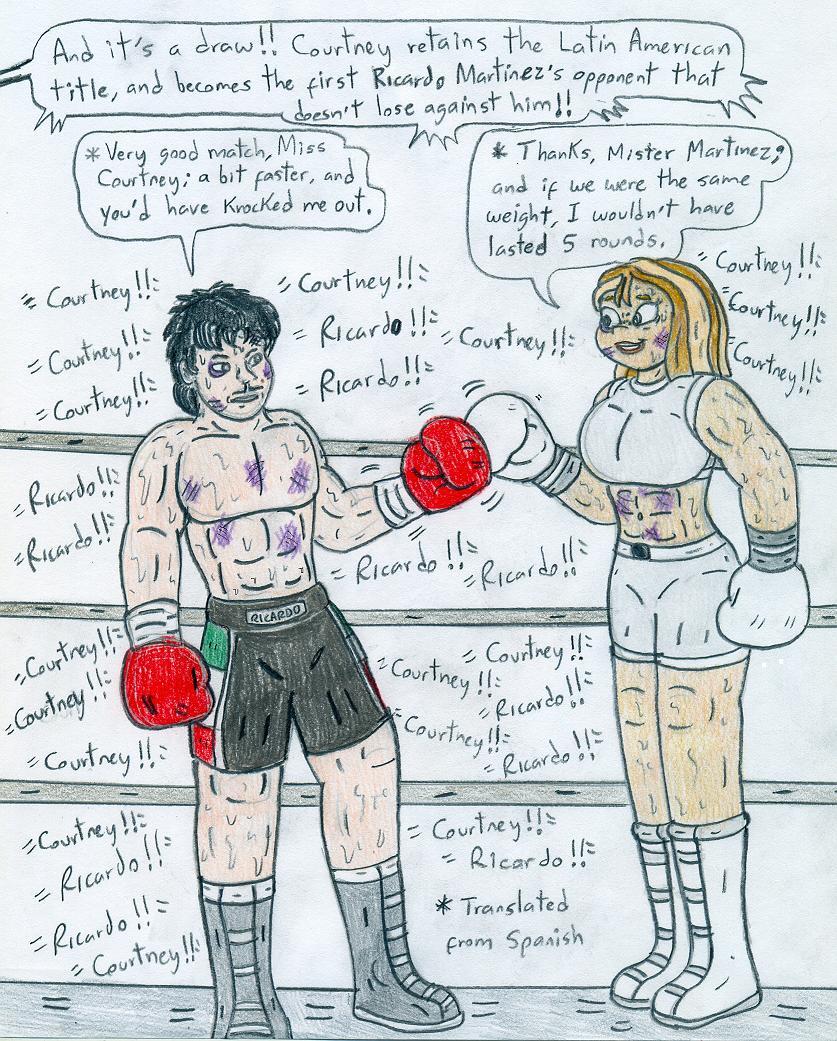 Boxing Courtney Vs Ricardo Martinez By Jose-Ramiro On