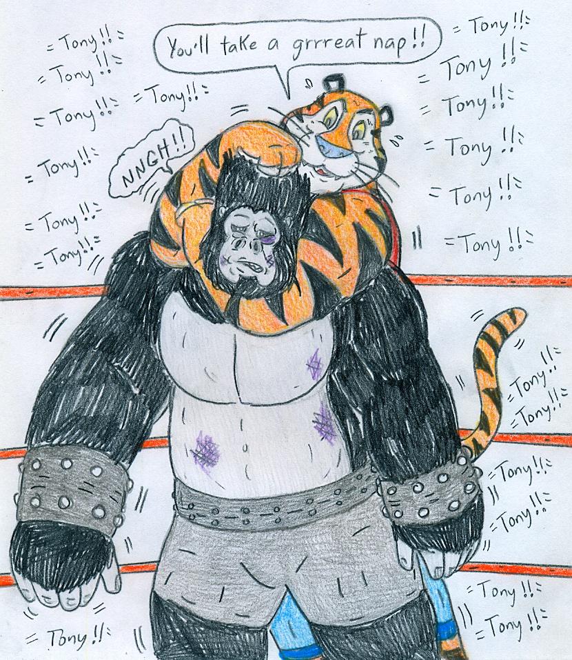 Wrestling Tony Tiger Vs Gorilla Boss By Jose-Ramiro On
