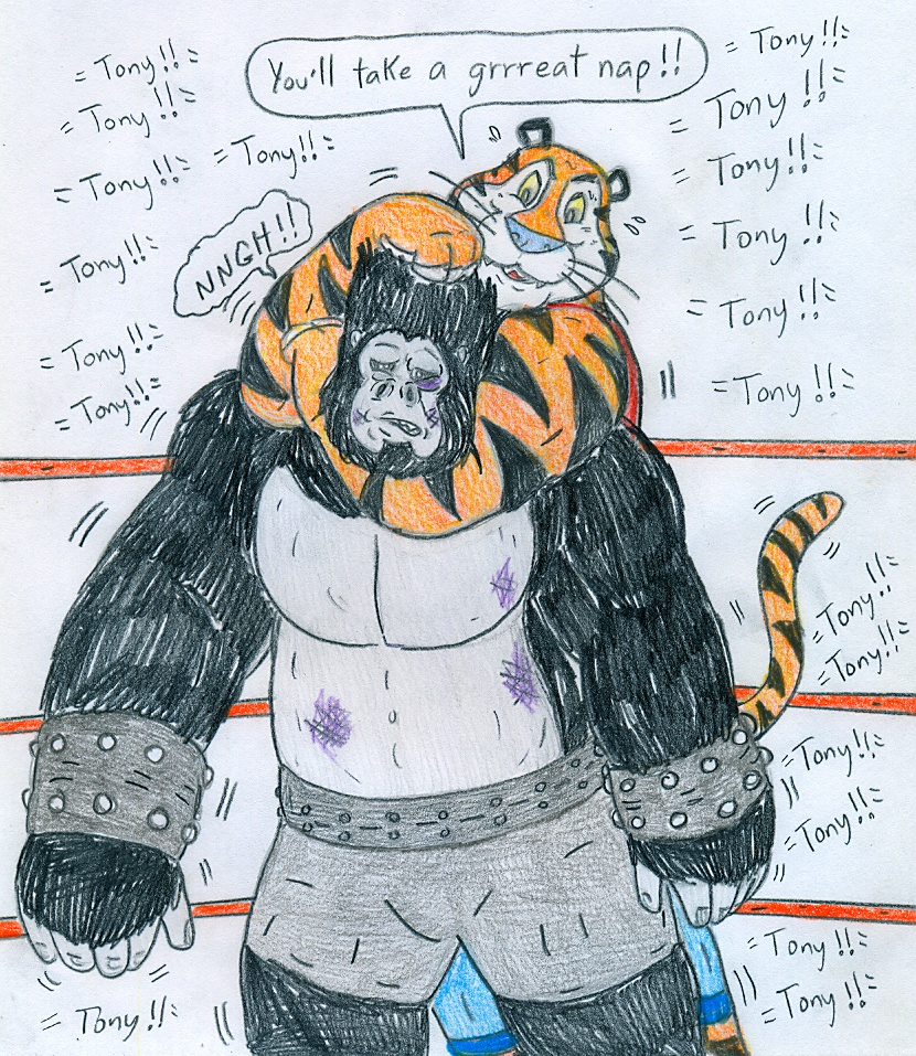 Wrestling Tony Tiger Vs Gorilla Boss By Jose Ramiro On Deviantart