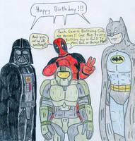 Birthday Card - Masked Men