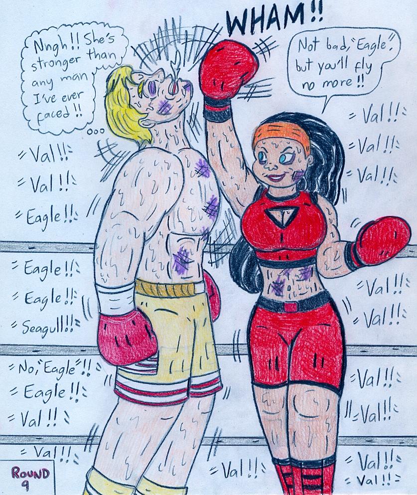 Boxing Valerie Grey Vs David Eagle By Jose-Ramiro On