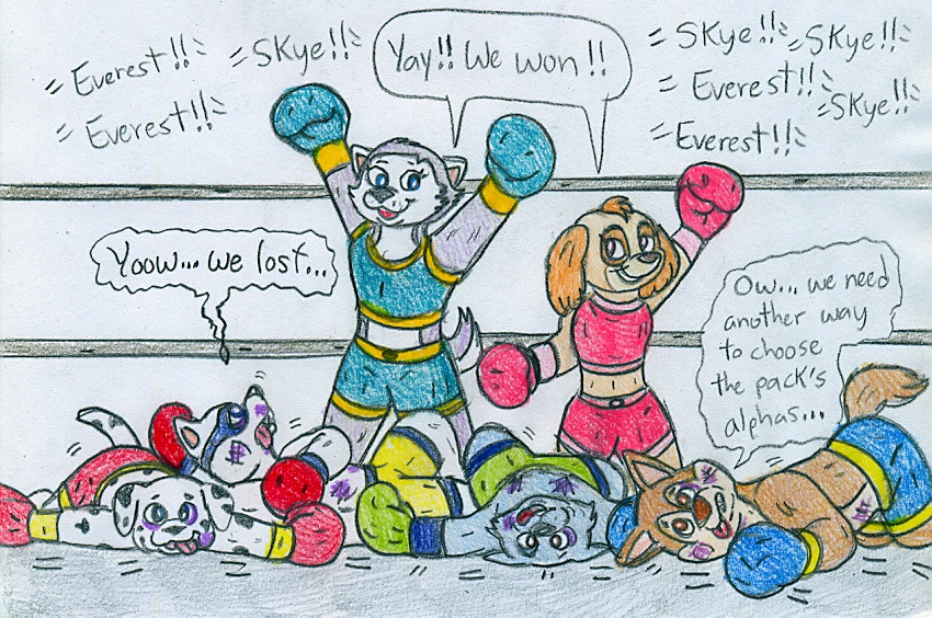 Boxing Paw Patrol by Jose-Ramiro on DeviantArt