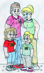 Jimmy and Cindy's Family by Jose-Ramiro