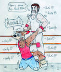 Wrestling Duke Kaboom vs Big Bad Wolf