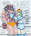 Boxing Human Rainbow Dash vs Berserker Predator by Jose-Ramiro