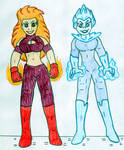 Volcana and Killer Frost - DCSHG by Jose-Ramiro