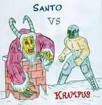Santo vs Krampus by Jose-Ramiro