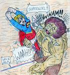 Supergirl vs Gigantomachia by Jose-Ramiro