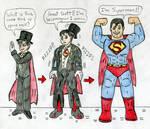 Tuxedo Mask to Superman by Jose-Ramiro