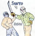 Santo vs Jason by Jose-Ramiro