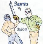 Santo vs Jason by Jose-Ramiro