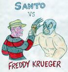 Santo vs Freddy Krueger by Jose-Ramiro