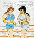 Wrestling Muscle Belle vs Jasmine by Jose-Ramiro