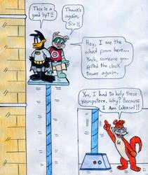 Batduck, Decoy, and I Am Weasel by Jose-Ramiro