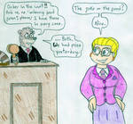 Attorney Angelica and Judge Rigby by Jose-Ramiro