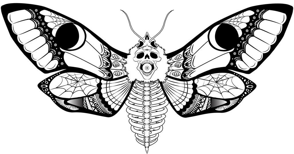 Deathshead Moth tattoo Idea by MissBreakyourFace on DeviantArt