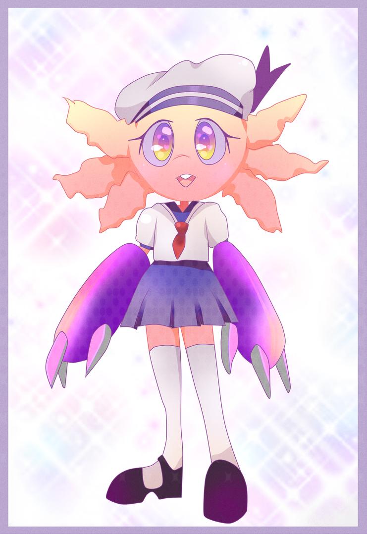 Sailor Axolotl by muffin-mixer