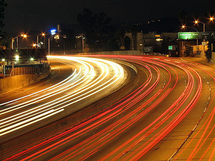 Hollywood Freeway by grandmarquis