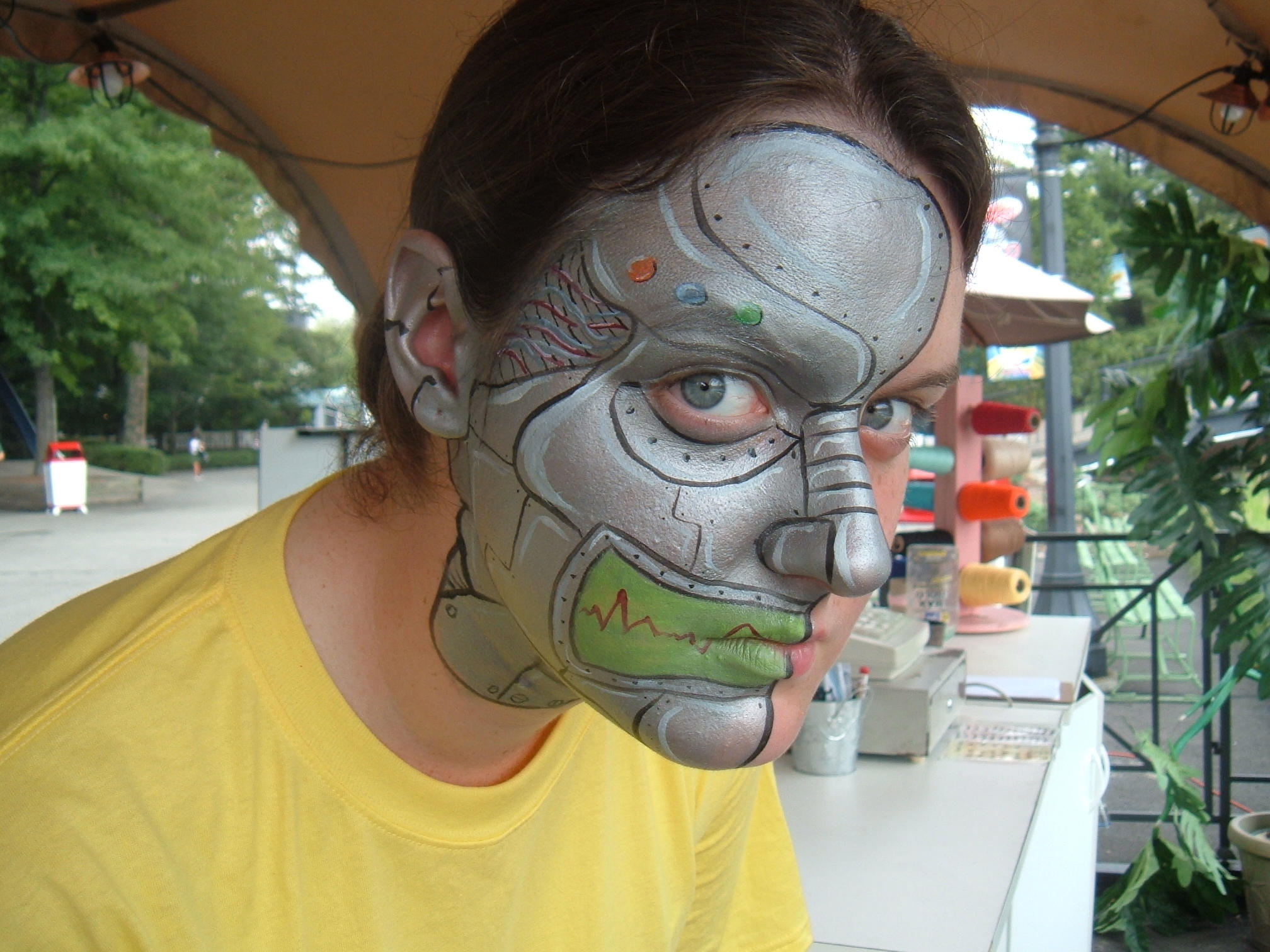Cyborg Face Makeup Face Paint Cyborg by