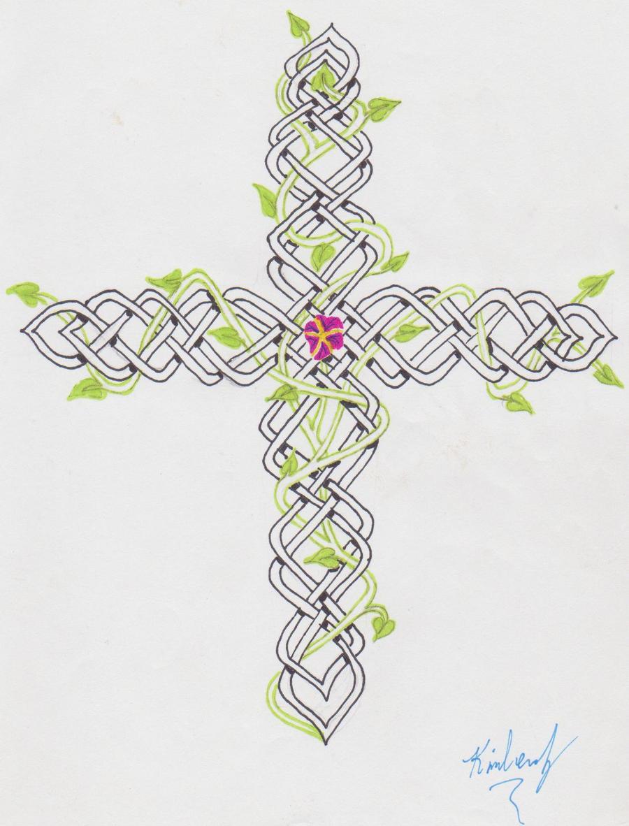 celtic cross with vines by misskimmyu on deviantART