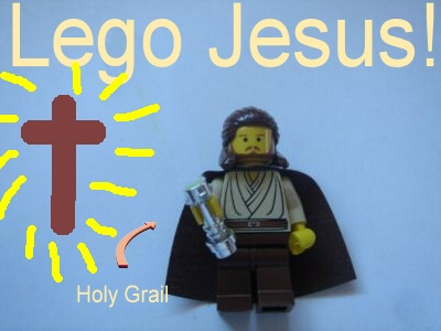 Lego Jesus and the Holy Grail by Raine407