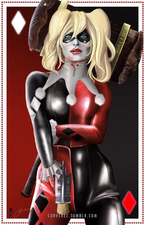 Harley Quinn by Corverez