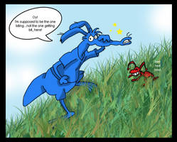 Aardvark and Ant by airlobster