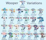 Wooper Breeding Variations (Hoenn)