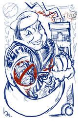 STay Puft Tattooed WIP by mannycartoon