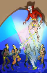 Deadman vs Ghost Busters by mannycartoon