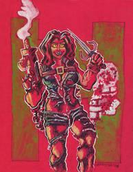 Red She Hulk by mannycartoon