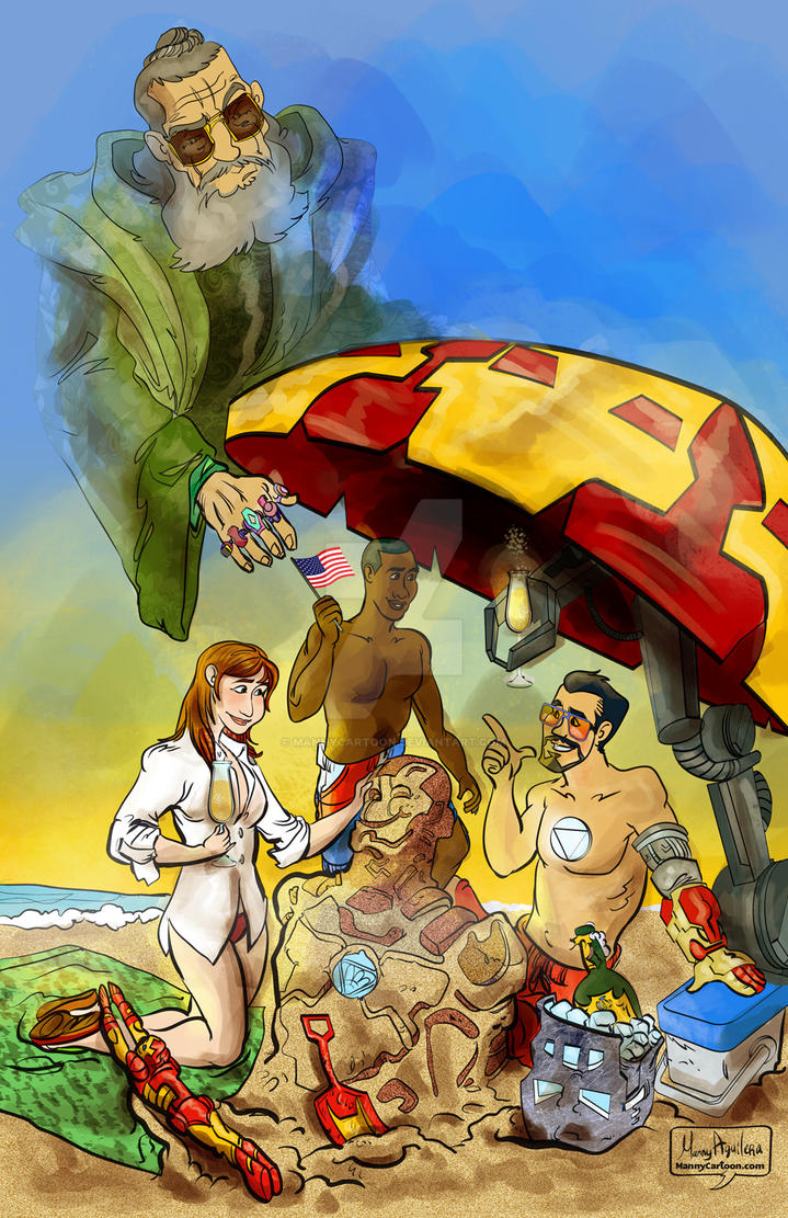 Tony's Day at the Beach by mannycartoon