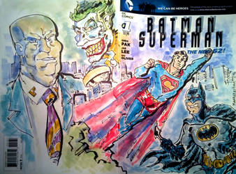 Superman Batman Sketch Cover