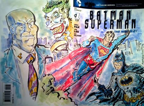 Superman Batman Sketch Cover