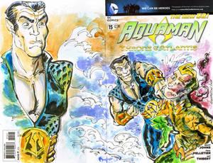 Sketch Cover Namor vs Aquaman