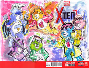 X Men1 Care Bear Sketch Cover