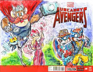 Sketch Covers Uncanny Avengers Rescue Rangers