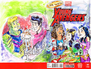 Sketch COver Young Avengers Archie Style