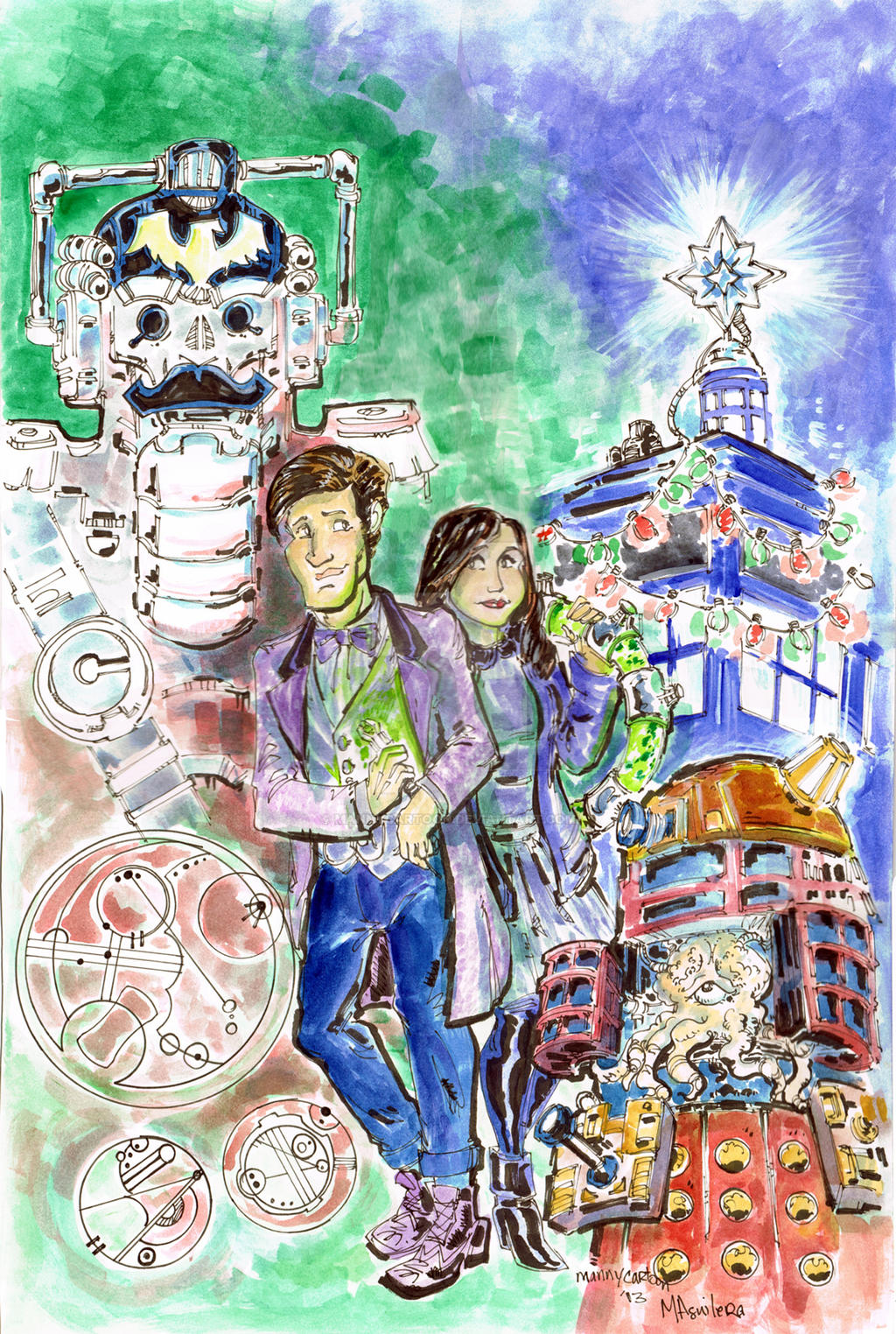 Doctor WHO Christmas Special Cyber Nut Cracker by mannycartoon