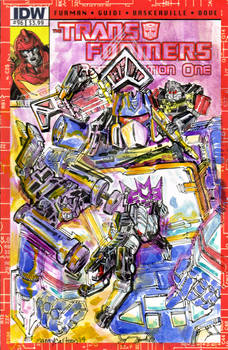 Soundwave Transformers IDW Sketch cover