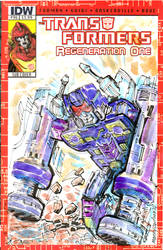 Rumble IDW Transformers Sketchcovers