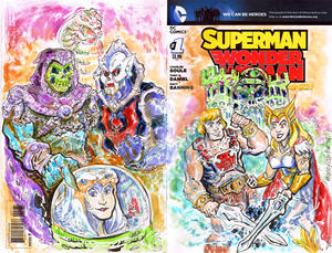 He-Man She-Ra Sketch Cover