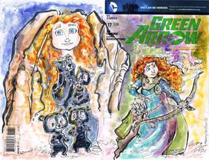 Green Arrow Brave Sketch Cover
