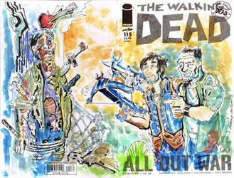 Walking Dead Dixon Bros SKetch Cover by mannycartoon