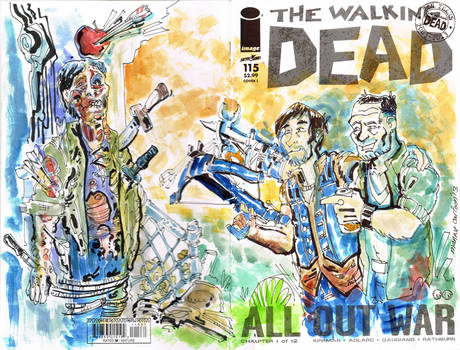 Walking Dead Dixon Bros SKetch Cover