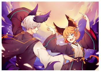 BnS: Dancing (Comm work) by Stukimura