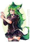 Green Fox (Comm work) by Stukimura