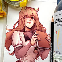 Wolf and Spice: Holo (Comm Work)