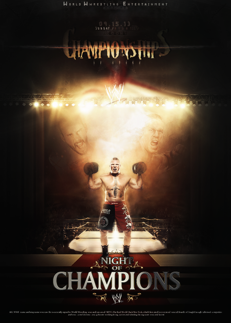 Poster night of champions 2013 by ahmed-aldhfeeri