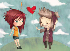 Love balloon by MizumiHisui